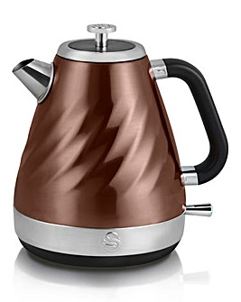 Swan Twist Copper Kettle