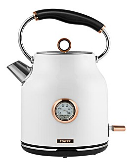 Tower 1.7 Litre White Kettle