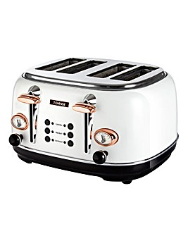 Tower T20017W 4 Slice White Toaster