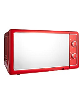 700W 20L Manual Microwave - Red