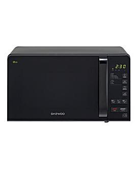 Daewoo 800W Digital Black Microwave