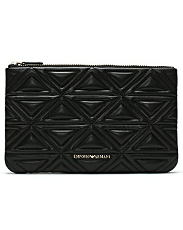 3fc613c854 Emporio Armani Busta Quilted Pouch