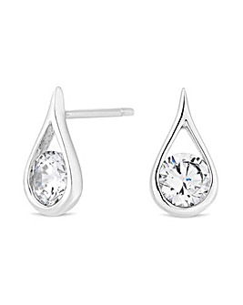 Simply Silver Sterling Silver Teardrop Stud Earring