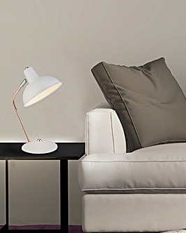 Ayden Arch Arm White Desk Lamp