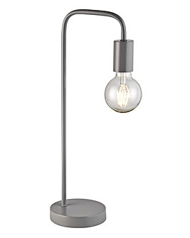 Colton Exposed Bulb Matt Grey Desk Lamp