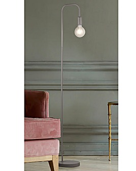 Colton Exposed Bulb Grey Floor Lamp