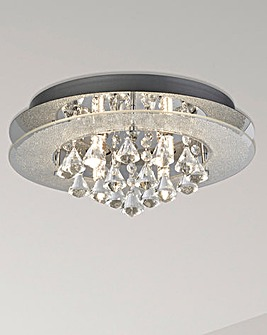 Lia Flush Droplets Bathroom Light