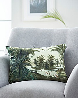 Velvet Palm Cushion