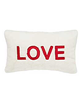 Love Faux Fur Cushion