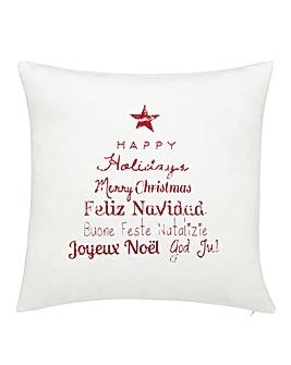 Happy Holidays Cushion