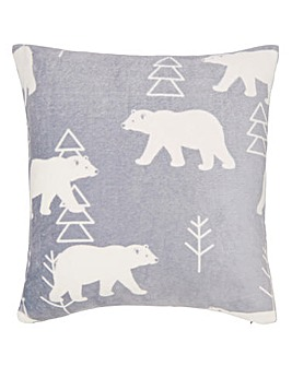 Polar Bear Cuddly Fleece Cushion