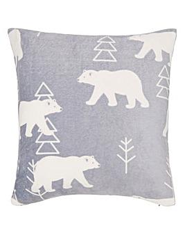 Polar Bear Cuddly Fleece Cushion