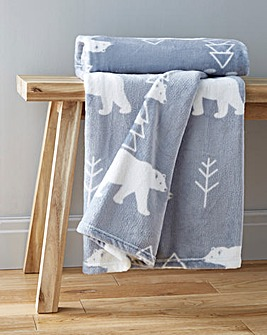 Polar Bear Cuddly Fleece Throw