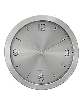 Elko Aluminium Wall Clock Silver
