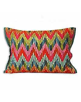Chevron Embroidered Cushion