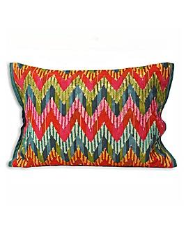 Chevron Embroidered Cushion