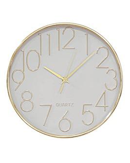Metallic Wall Clock 30cm