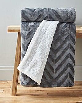 Chevron Embossed Sherpa