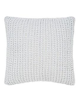 Chenille Basket Weave Cushion