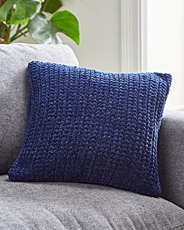 Chenille Basket Weave Cushion