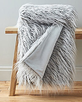 Faux Mongolian Throw