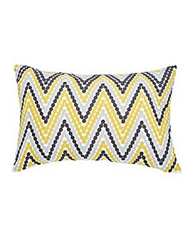 Embroidered ZigZag Stripe Cushion
