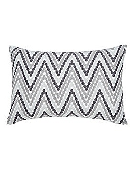 Embroidered ZigZag Stripe Cushion