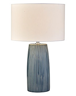 Turin Ribbed Ceramic Table Lamp