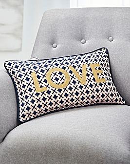 Love Geo Print Cushion