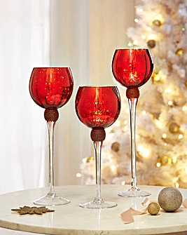 Goblet Candle Holders Set of 3