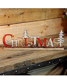 Wooden Christmas Mantel Plaque