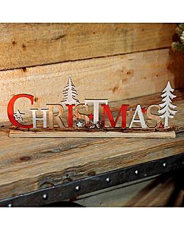 Wooden Christmas Mantel Plaque
