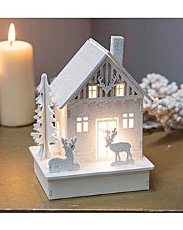 LED Light Up Glitter Christmas House