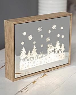 LED Light up Christmas Plaque