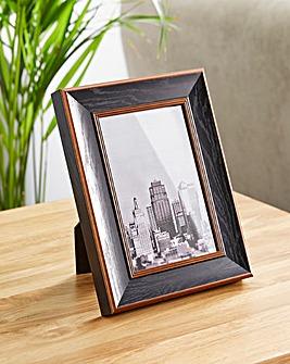 Wood & Bronze Finish 4 x 6 Frame