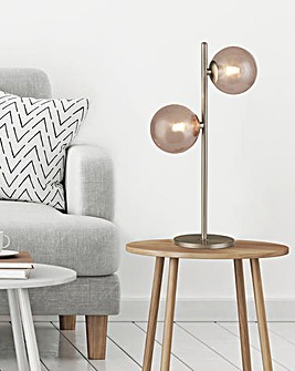 Genoa Two Light Globe Table Lamp
