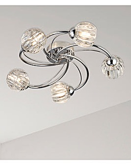 Sienna Five Light Flush Ceiling Light