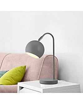 Grey Arc Table Lamp