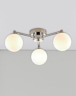 Milan Three Light Globe Ceiling Light
