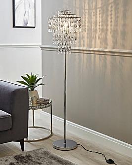 Beaded Sparkle Floor Lamp
