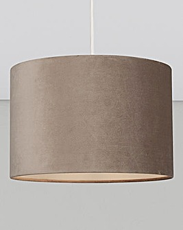 Matt Velvet Grey Drum Shade