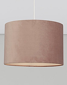 Matt Velvet Dusky Pink Drum Shade