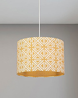 Genoa Geo Drum Shade