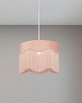 Velvet Blush Pink Fringe Shade