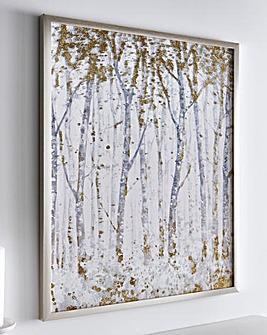 Wood Effect Glitter Canvas