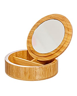 Round Bamboo Jewellery Box