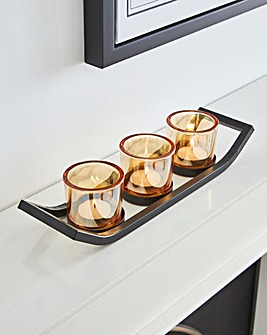 Smoked Glass Tealight Holder