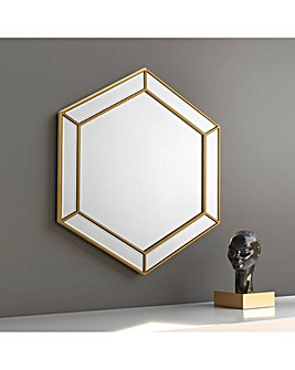 Maya Hexagonal Wall Mirror