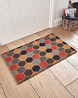 Hexagon Coir Door Mat
