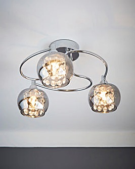 Smoked Glass Ceiling Light